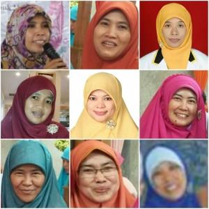 Keterangan Foto: (Kiri ke kanan; atas ke bawah): 1. A. Puji Purwanti, 2. Dewina Hefrenita, 3. Evi Virdiana, 4. Husna Hidayati, 5. Linda Wuni, 6. Maysarotun Zubaidah, 7. Nenden Tresnanursari, 8. Trisakti Wijayana, 9. Yuliani Idrusi