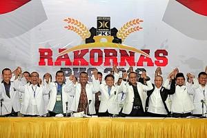 Keterangan Foto: Penutupan Rakornas PKS 2016